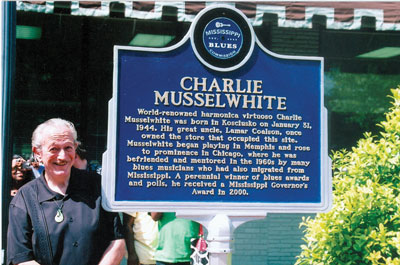 Multiple Grammy nominee Charlie Musselwhite at the dedication of his Blues Trail Marker