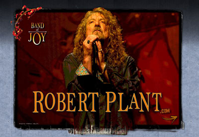 Robert Plant on the cover for Band of Joy, his latest album that won the 2011 Americana Root Music Award.