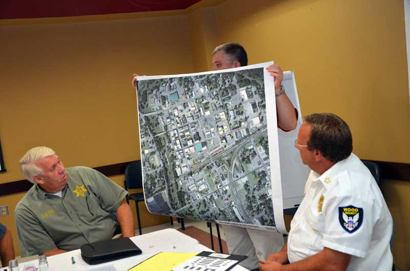Security and Map of Downtown Clarksdale
