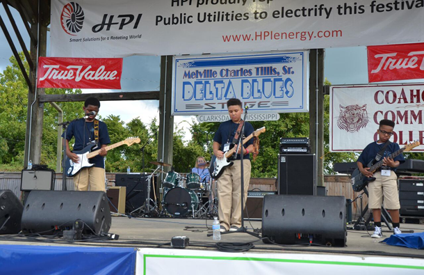 The Delta Blues Museum Band perform on the main stage