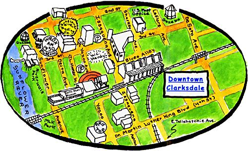 Map Of Clarksdale Mississippi Welcome to the Sunflower River Blues and Gospel Festival
